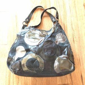 Coach Madison Black Mia Leather Shoulder Bag 👜